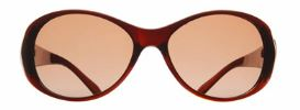 Fabula Y2802 Brown Oval Full Rim Ladies Sunglasses
